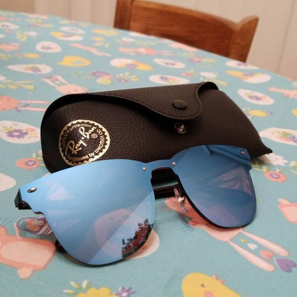 cac84d6266 Ray Ban blue clubmaster blaze sunglasses. M 5ad050d9a44dbebe3a4b2403